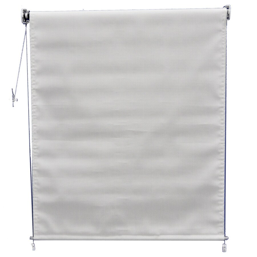 Americana Building Products 72-in W x 84-in L Textilene Linen Light Filtering Exterior Shade