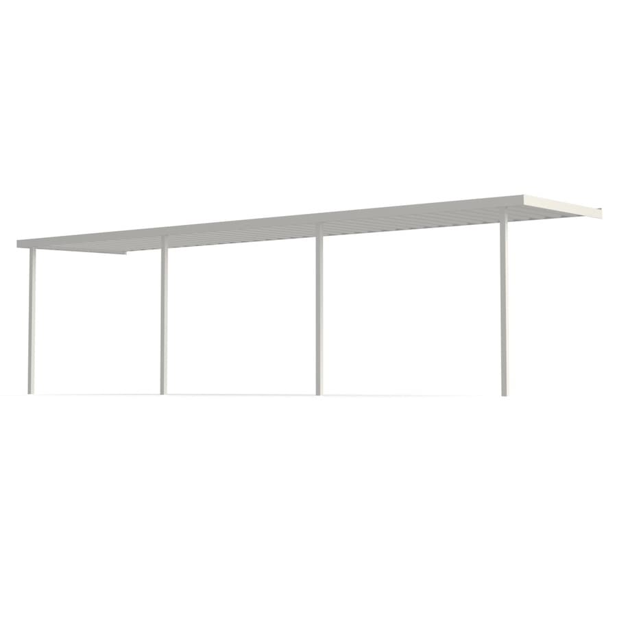 Americana Building Products 25-ft x 9-ft x 8-ft White Metal Patio Cover