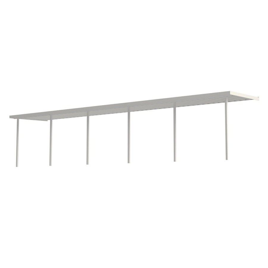 Americana Building Products 35-ft x 12-ft x 8-ft White Metal 2-Car Carport