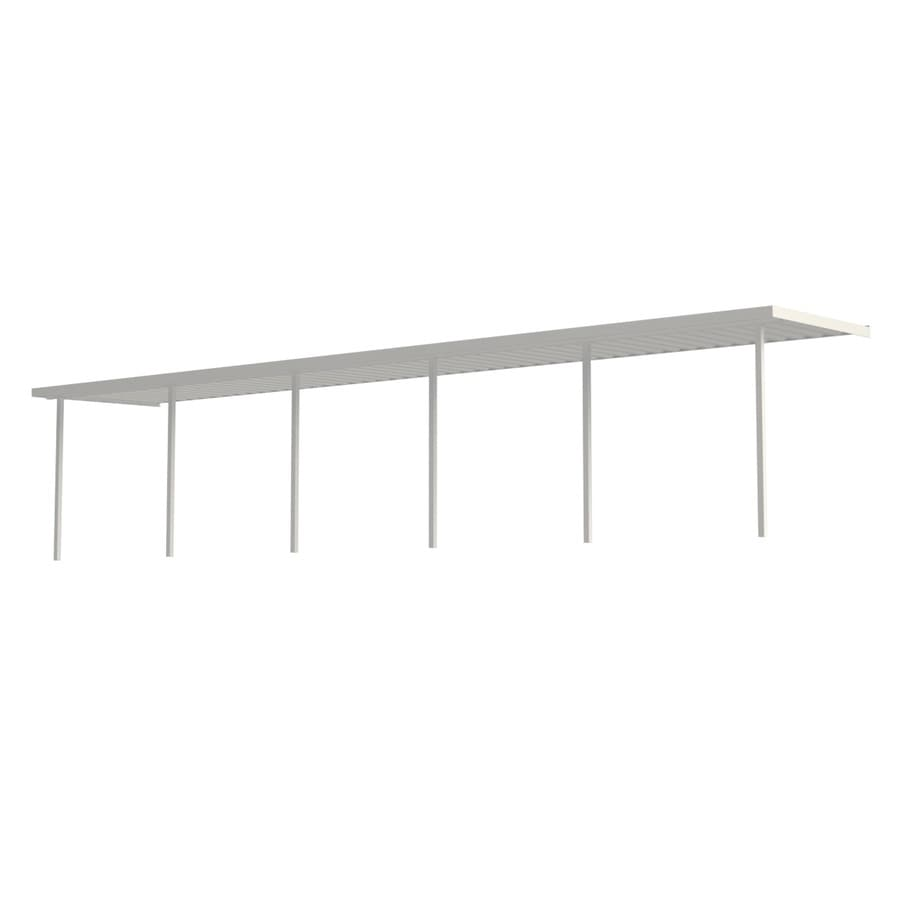 Americana Building Products 40-ft x 12-ft x 8-ft White Metal 2-Car Carport