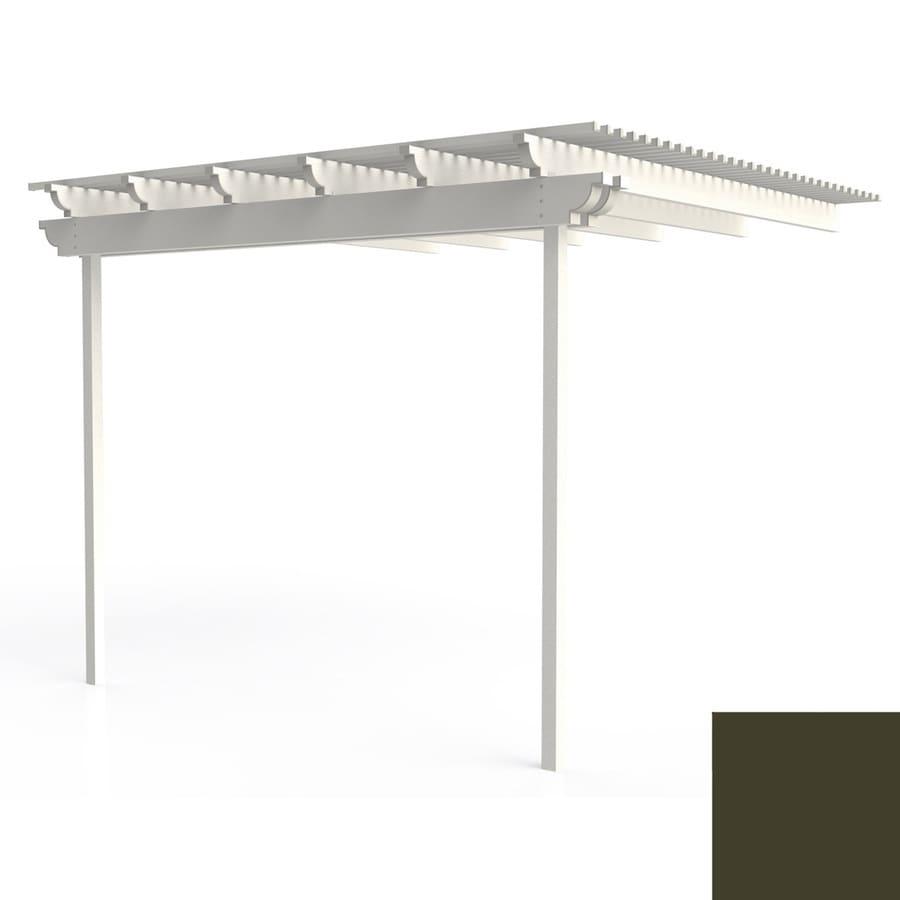 Americana Building Products 144-in W x 144-in L x 112.5-in H Aged Bronze Aluminum Freestanding Pergola