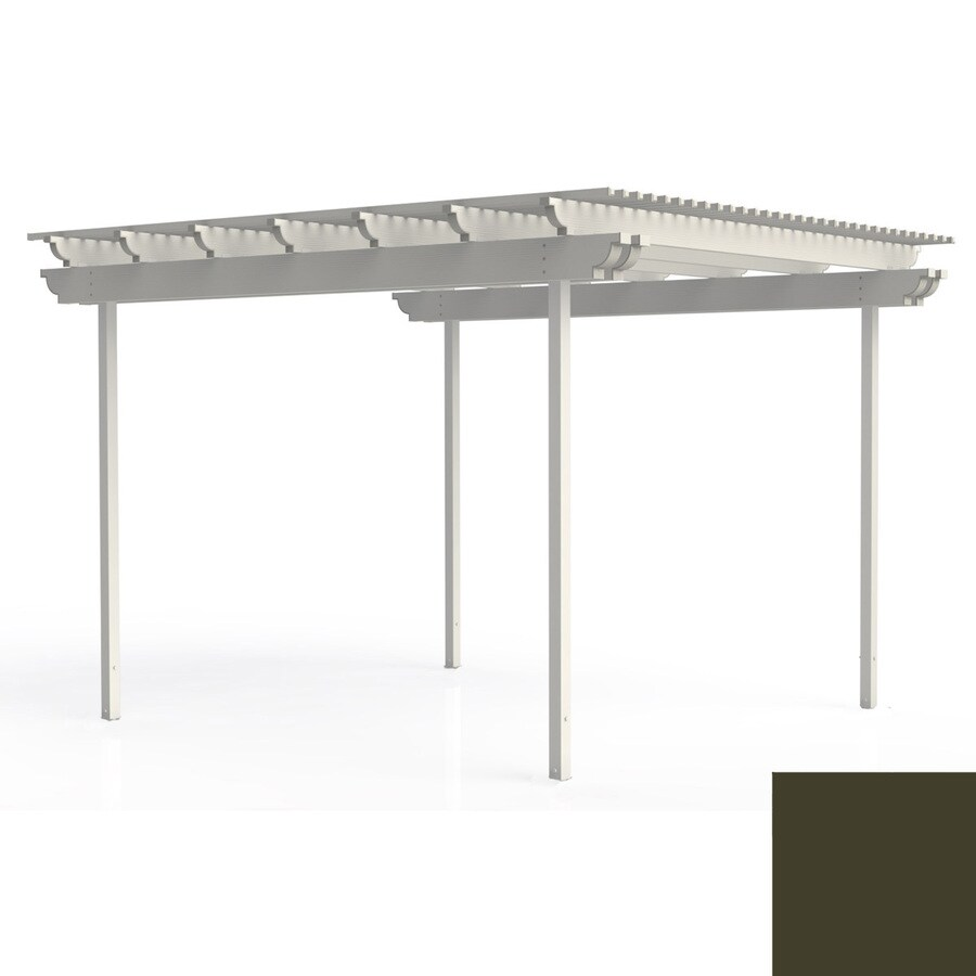 Americana Building Products 144-in W x 168-in L x 112.5-in H Aged Bronze Aluminum Freestanding Pergola