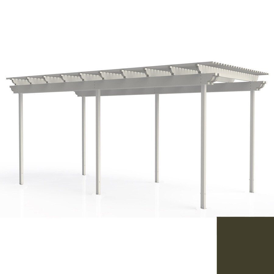 Americana Building Products 96-in W x 216-in L x 112.5-in H Aged Bronze Aluminum Freestanding Pergola