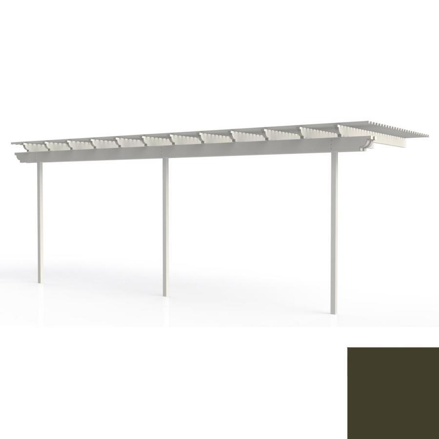 Americana Building Products 120-in W x 300-in L x 112.5-in H Aged Bronze Aluminum Attached Pergola