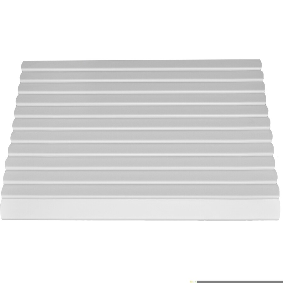 Americana Building Products 48-in Wide x 21-in Projection White Solid Open Slope Window Awning