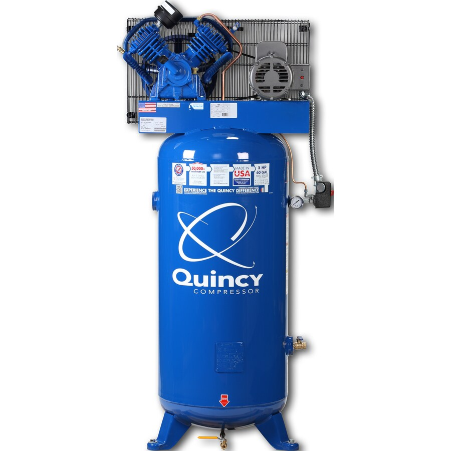 Quincy Compressor 5-HP 60-Gallon Two Stage Electric Air Compressor