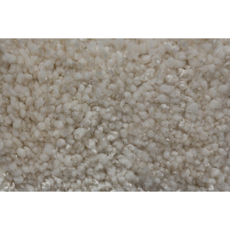 Royalty Carpet Mills Trusoft Footloose Luminous White Textured Indoor Carpet