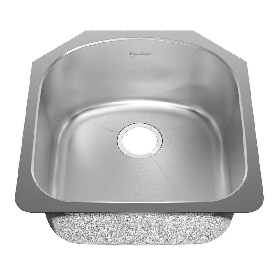 American Standard Prevoir 21.5-in x 23-in Radiant Silk Single-Basin Stainless Steel Undermount Kitchen Sink
