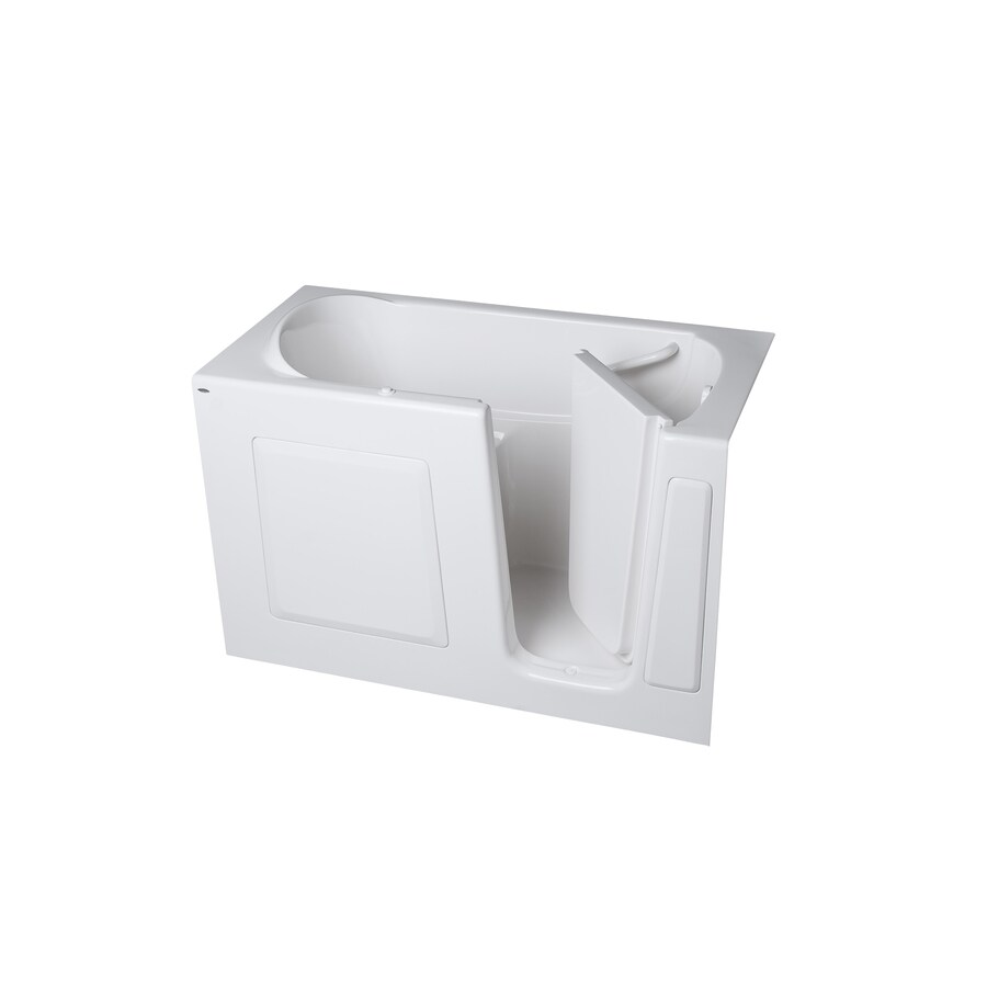 American Standard Walk-in Bath 59-in L x 30-in W x 37-in H White Gelcoat and Fiberglass Rectangular Walk-in Whirlpool Tub and Air Bath