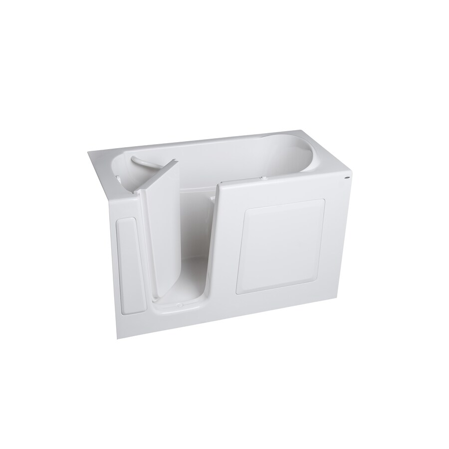 American Standard Walk-in Fiberglass Rectangular Walk-in Bathtub with Left-Hand Drain (Common: 30-in x 59-in; Actual: 37-in x 30-in x 59-in)