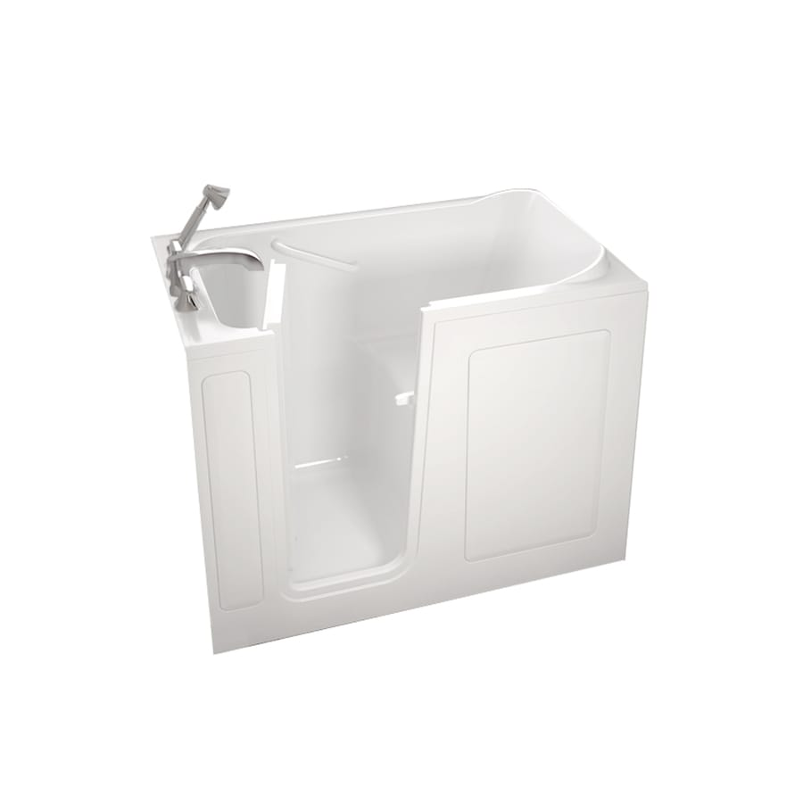 American Standard Walk-in Baths White Gelcoat and Fiberglass Rectangular Walk-in Whirlpool Tub (Common: 28-in x 48-in; Actual: 37-in x 28-in x 48-in)