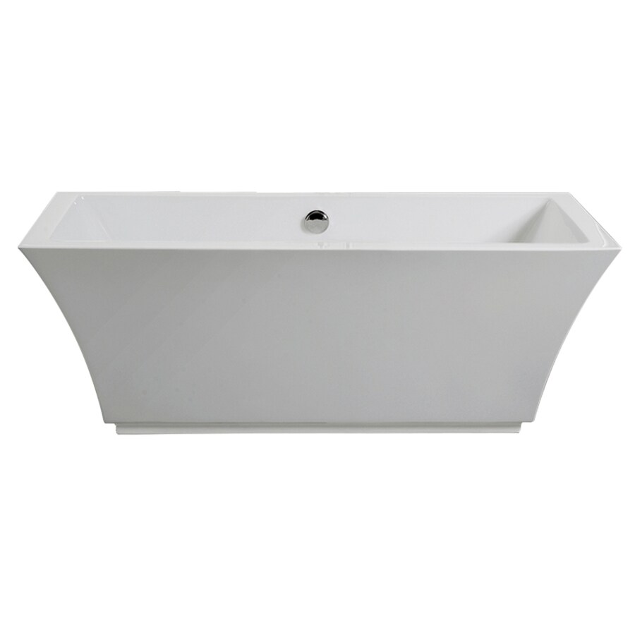 American Standard Tofino White Acrylic Rectangular Freestanding Bathtub with Center Drain (Common: 66-in x 31-in; Actual: 23-in x 66.93-in x 31.49-in)