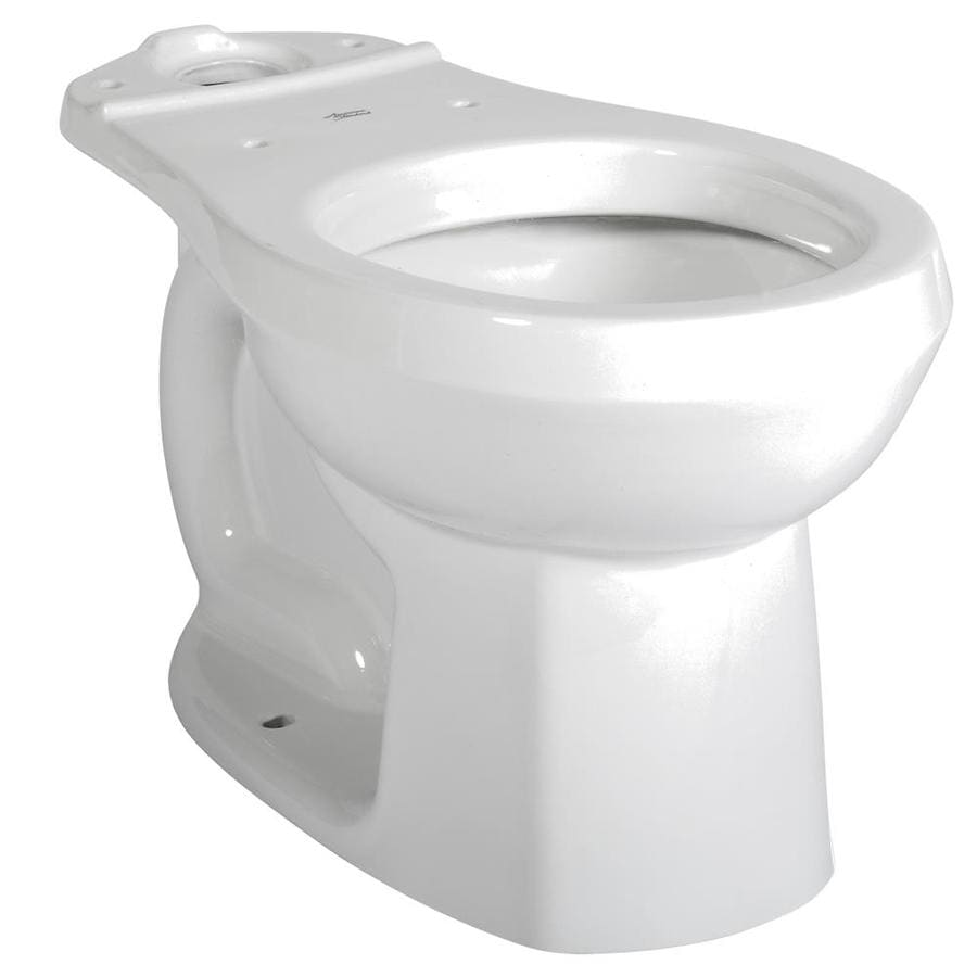 American Standard Colony Standard Height White 12-in Rough-in Round Toilet Bowl