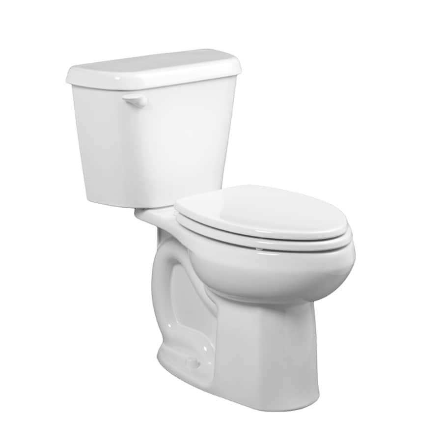 American Standard Toilet Seats >> Shop American Standard Colony White 1.6-GPF (6.06-LPF) 12 Rough-In Elongated 2-Piece Standard ...