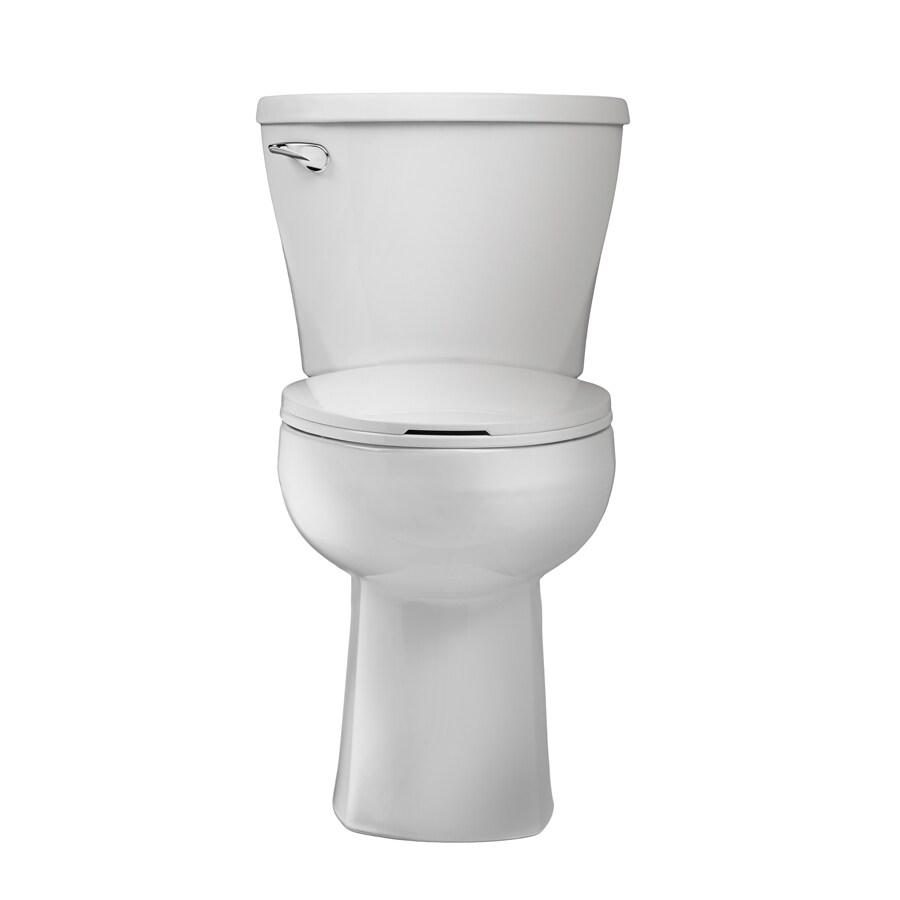 American Standard Mainstream White 1.28-GPF (4.85-LPF) 12 Rough-In WaterSense Elongated 2-Piece Chair Height Toilet