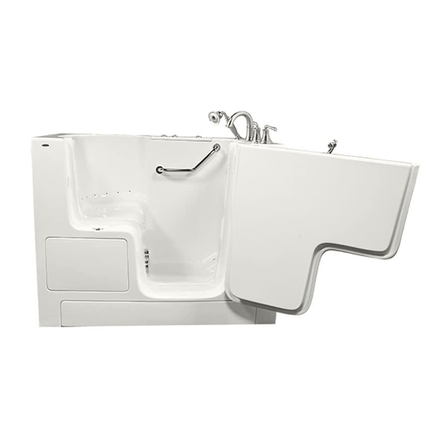 American Standard 52-in L x 32-in W x 40-in H White Gelcoat/Fiberglass Rectangular Walk-in Air Bath
