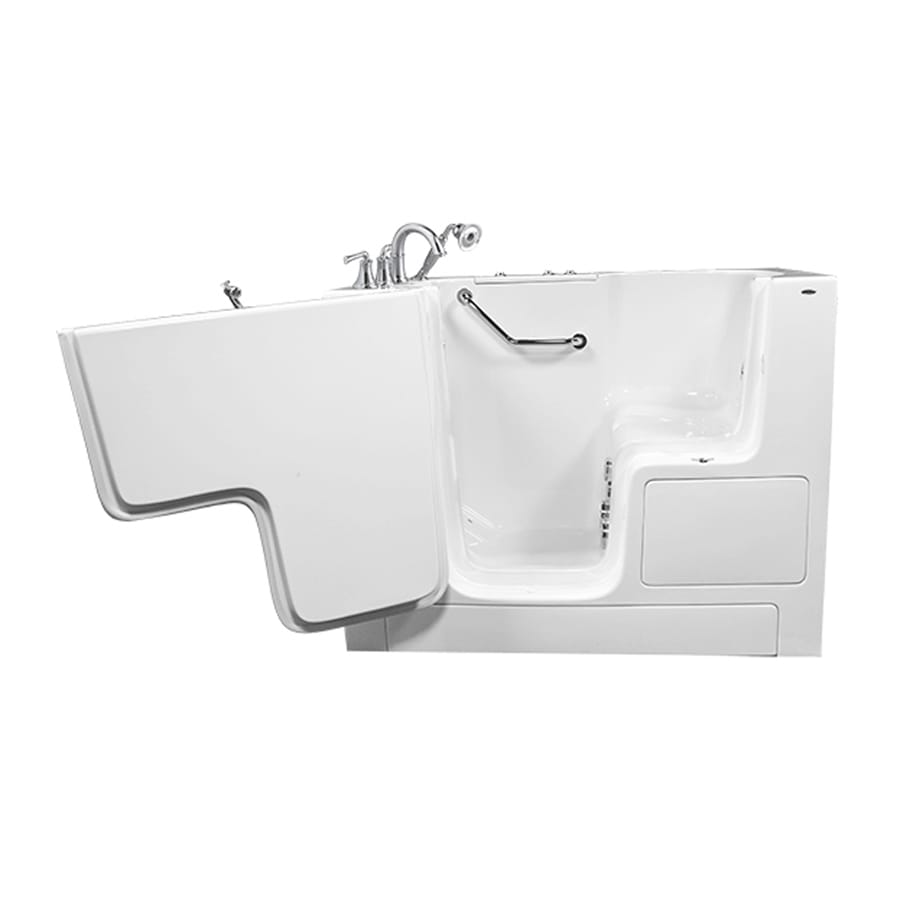 American Standard White Gelcoat and Fiberglass Rectangular Walk-in Whirlpool Tub (Common: 32-in x 52-in; Actual: 40-in x 32-in x 52-in)