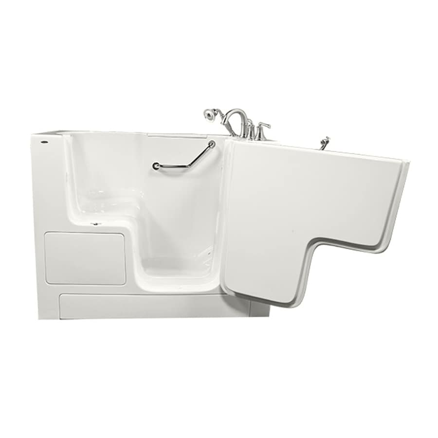American Standard White Gelcoat/Fiberglass Rectangular Walk-In Bathtub with Right-Hand Drain (Common: 32-in x 52-in; Actual: 40-in x 32-in x 52-in)