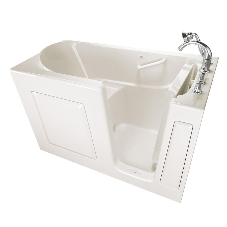 American Standard Walk-in Gelcoat and Fiberglass Rectangular Walk-in Bathtub with Right-Hand Drain (Common: 30-in x 59-in; Actual: 37-in x 30-in x 59-in)