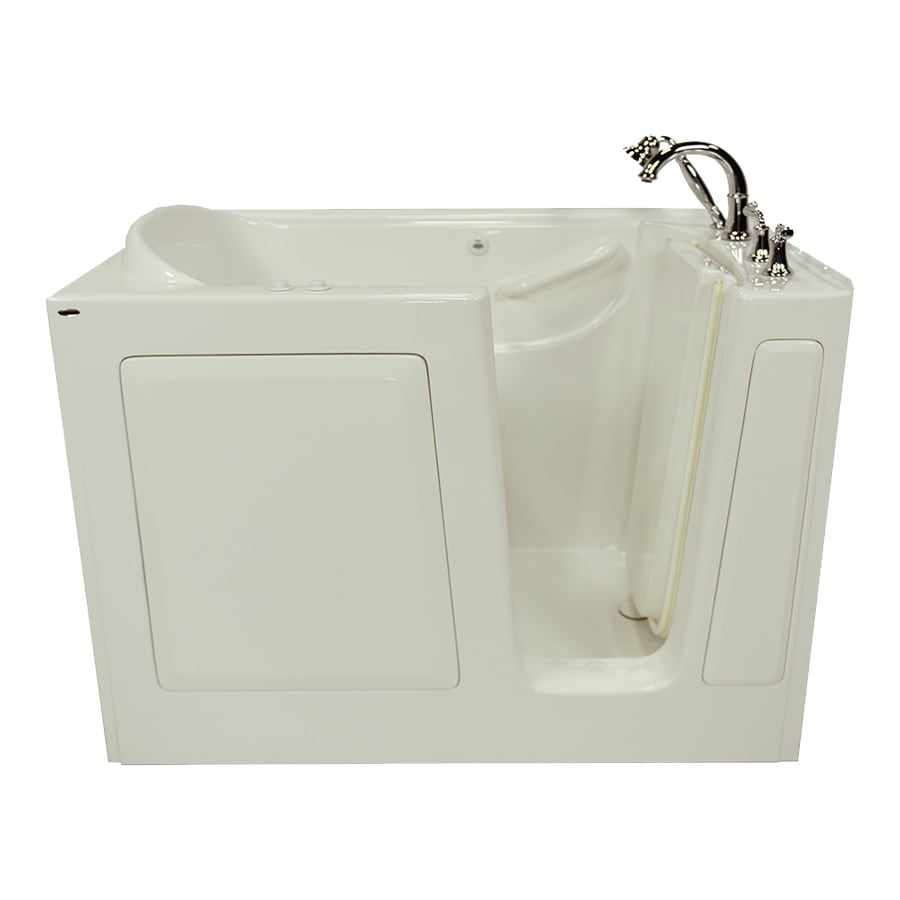 American Standard Linen Gelcoat and Fiberglass Rectangular Walk-in Whirlpool Tub (Common: 30-in x 50-in; Actual: 37-in x 30-in x 50-in)