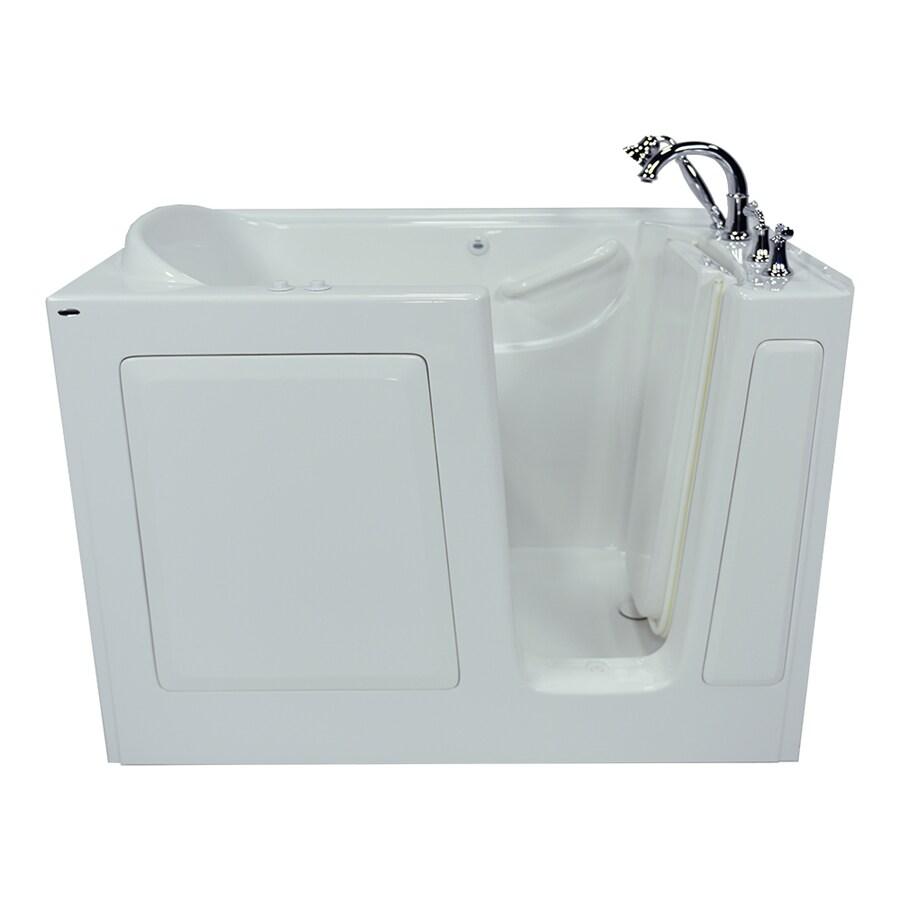 American Standard 50-in L x 30-in W x 37-in H White Gelcoat and Fiberglass Rectangular Walk-in Whirlpool Tub and Air Bath