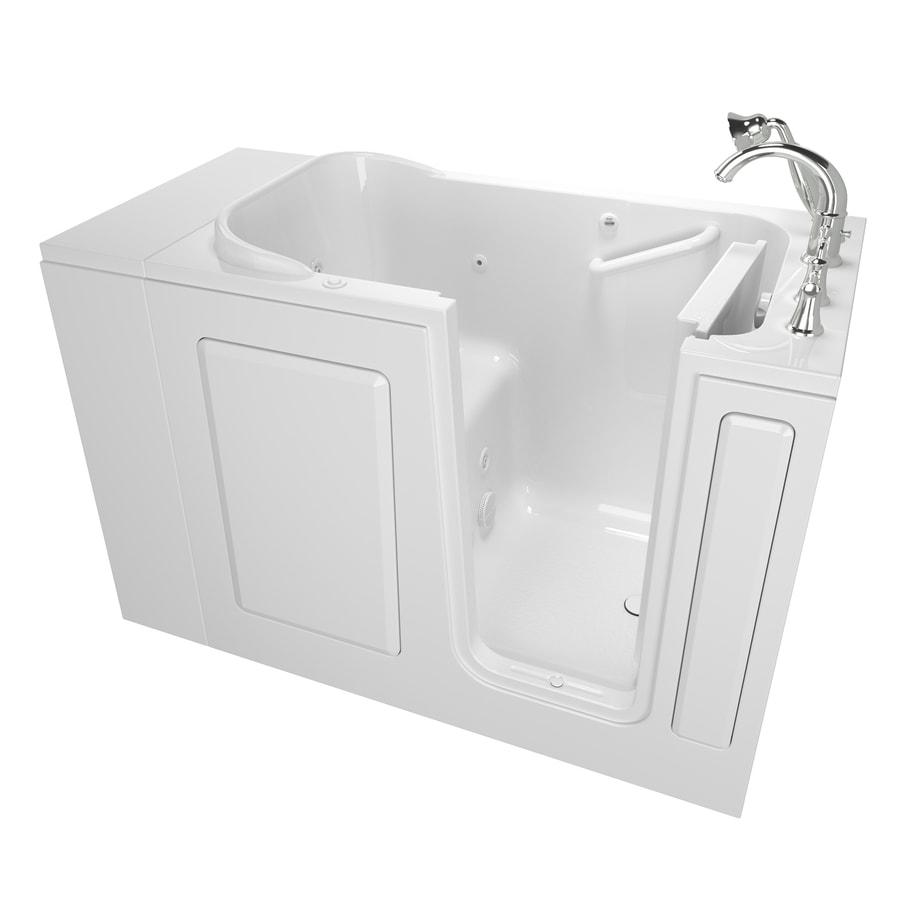 American Standard White Gelcoat and Fiberglass Rectangular Walk-in Whirlpool Tub (Common: 28-in x 48-in; Actual: 37-in x 28-in x 48-in)
