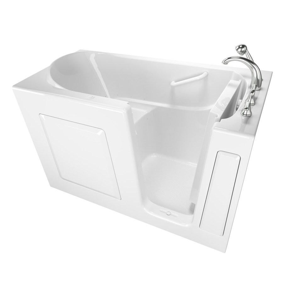 Safety Tubs Walk-In-Baths 59-in L x 30-in W x 37-in H White Gelcoat/Fiberglass Rectangular Walk-in Air Bath
