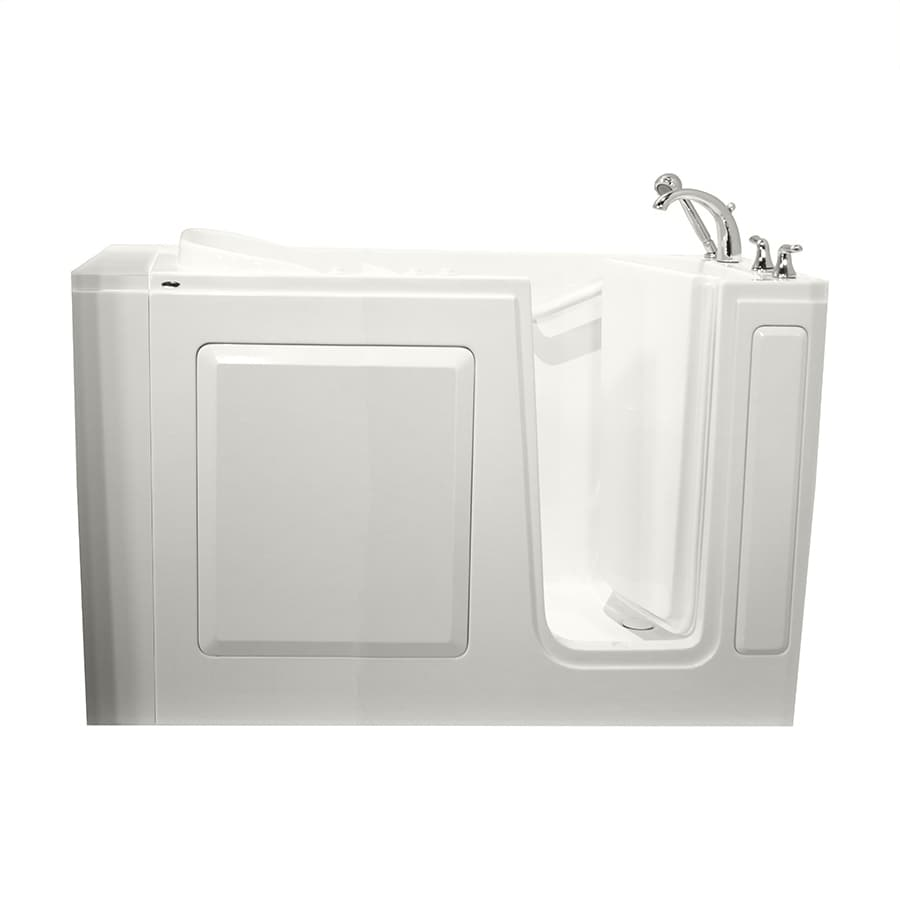 Safety Tubs White Gelcoat and Fiberglass Rectangular Walk-in Whirlpool Tub (Common: 30-in x 50-in; Actual: 37-in x 30-in x 50-in)
