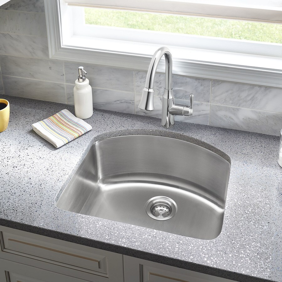 Shop american standard danville 23 in x 21 in stainless steel single basin undermount - American standard kitchen sink ...