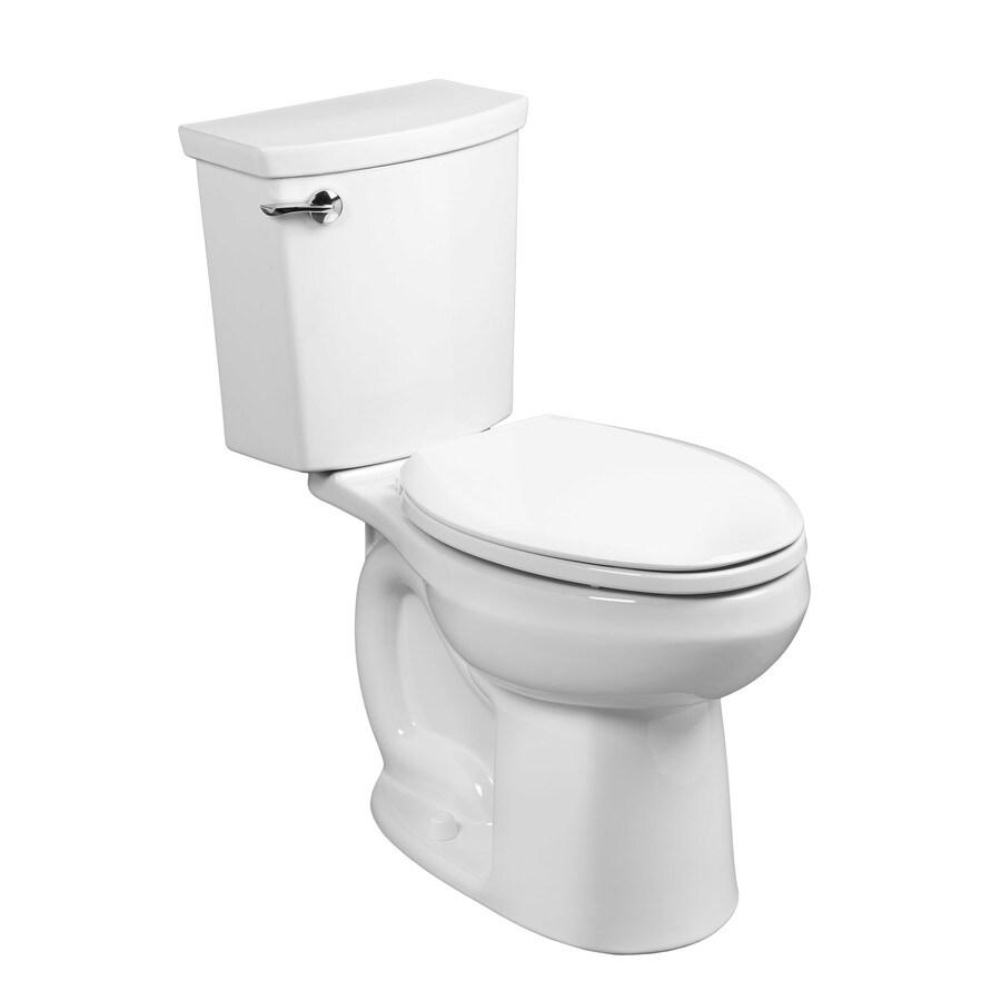 American Standard H2Option White 1.1-GPF (4.16-LPF) 12 Rough-In WaterSense Elongated 2-Piece Standard Height Toilet