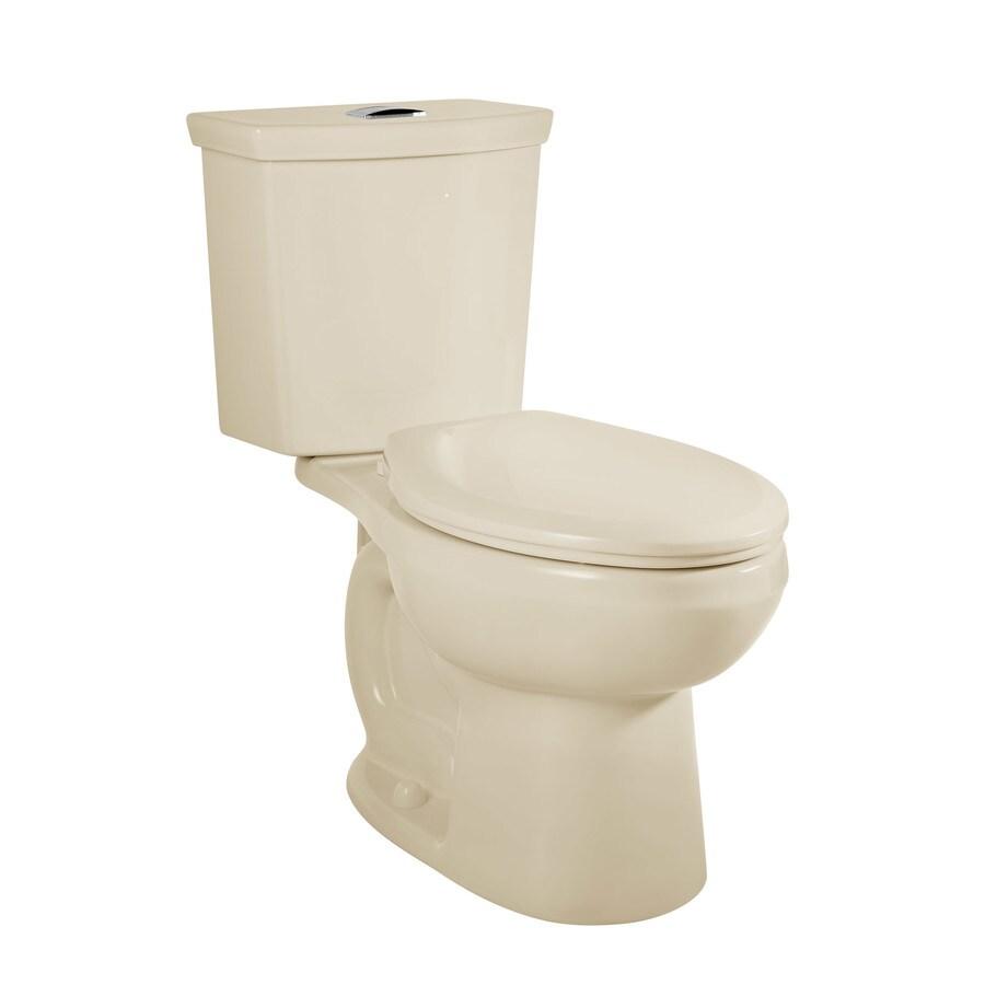 American Standard H2Option Bone 1.28-GPF 12 Rough-In WaterSense Elongated Dual-Flush 2-Piece Chair Height Toilet