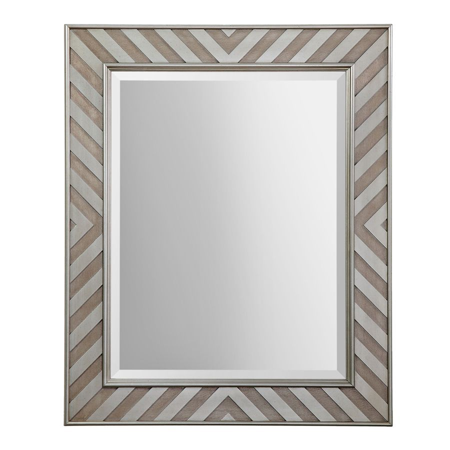 allen + roth 30-in x 36-in Silver Beveled Rectangle Framed French Wall Mirror