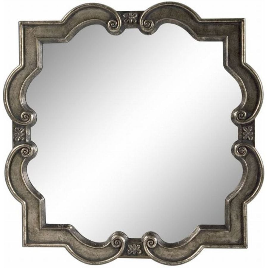 allen + roth 26-in x 26-in Silver Polished Square Framed French Wall Mirror