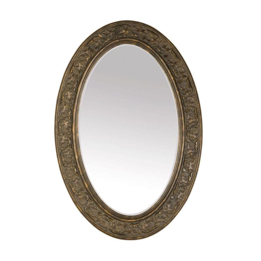 Style Selections Bronze Oval Framed Wall Mirror