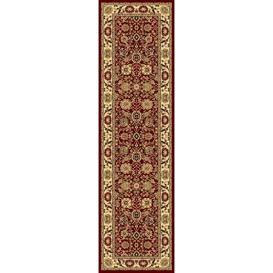 Rugs America New Vision Tabriz Cherry Rectangular Indoor Woven Runner (Common: 2 x 8; Actual: 27-in W x 94-in L)