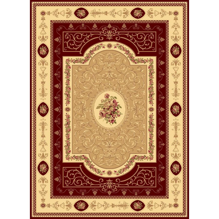 Rugs America New Vision French Aubusson Cherry Rectangular Indoor Woven Area Rug (Common: 4 x 6; Actual: 47-in W x 63-in L)