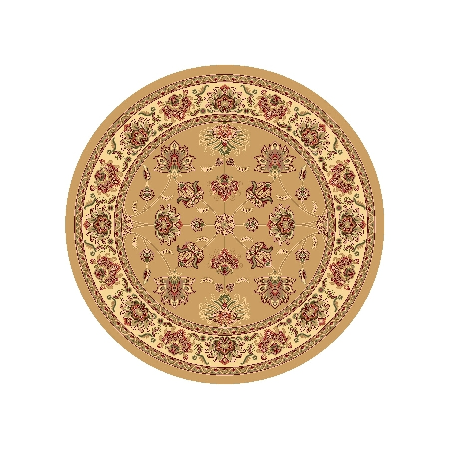 Rugs America New Vision Kashan Berber Round Indoor Woven Area Rug (Actual: 5.25-ft Dia)