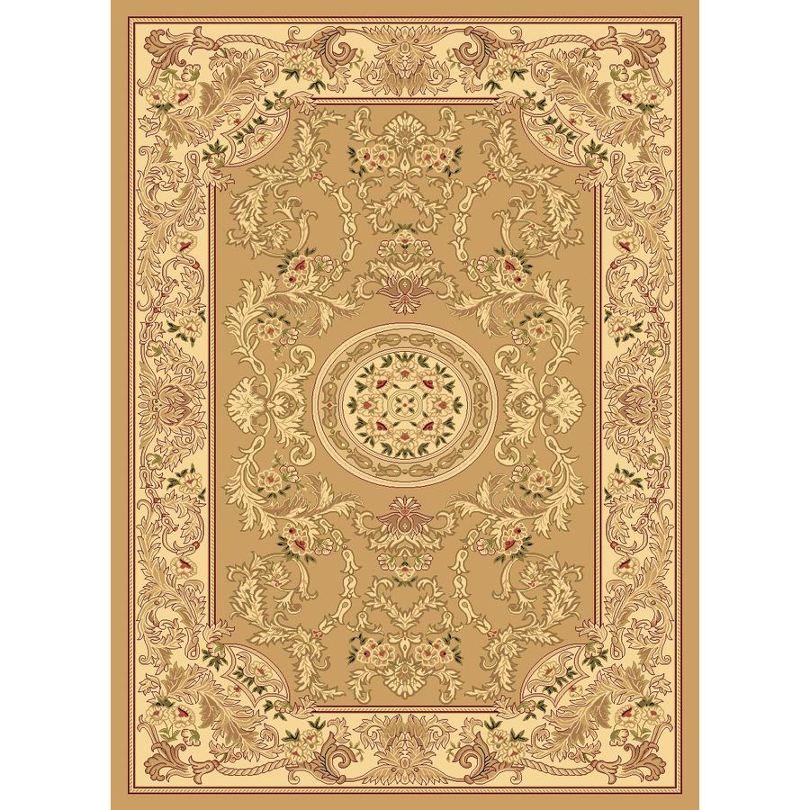 Rugs America New Vision 3-ft 11-in x 5-ft 3-in Rectangular Beige Floral Area Rug