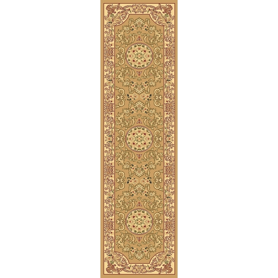 Rugs America New Vision 2-ft 3-in W x 7-ft 10-in L Cream Runner