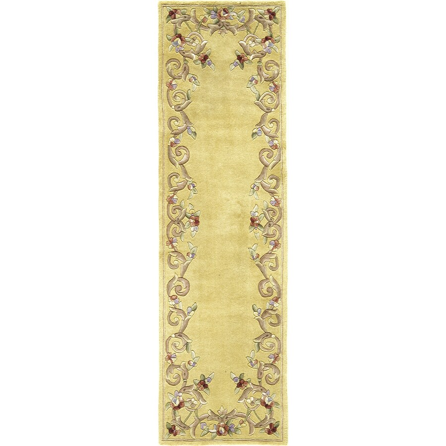 Rugs America Flora 2-ft 3-in W x 8-ft L Cream Wool Runner