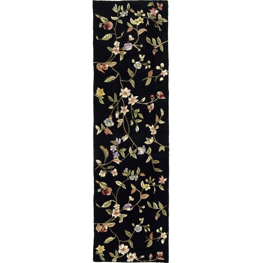 Rugs America 2-ft 3-in W x 8-ft L Black Runner