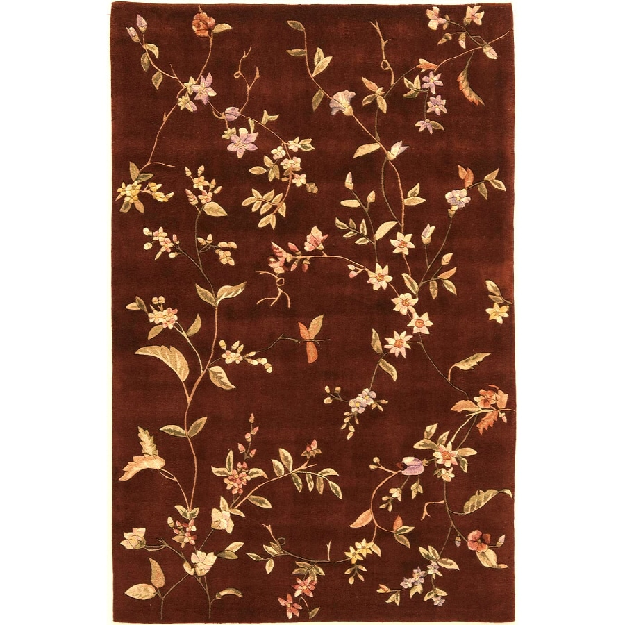 Rugs America 18-in x 27-in Heritage Red Flora Accent Rug