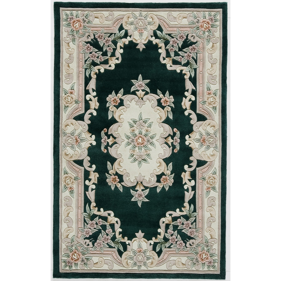Rugs America New Aubusson Emerald Rectangular Indoor Tufted Throw Rug (Common: 2 x 4; Actual: 24-in W x 48-in L)