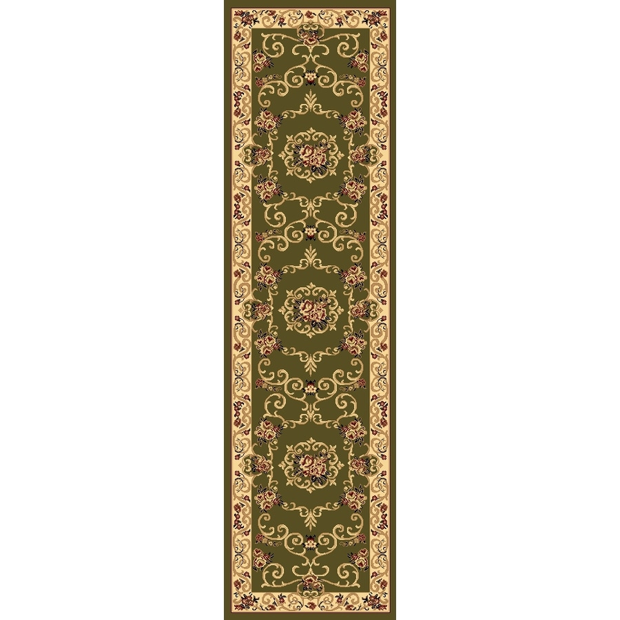 Rugs America New Vision Souvanerie Olive Rectangular Indoor Woven Runner (Common: 2 x 8; Actual: 27-in W x 94-in L)