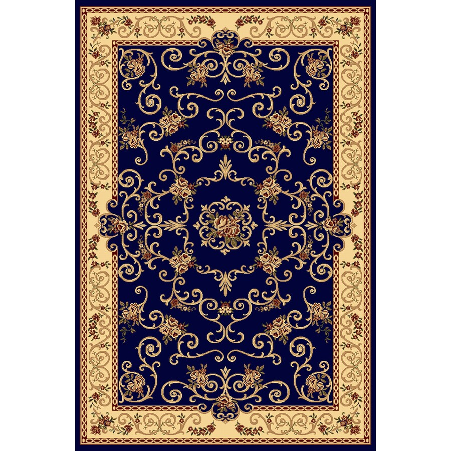 Rugs America New Vision Souvanerie Navy Rectangular Indoor Woven Area Rug (Common: 4 x 6; Actual: 47-in W x 63-in L)