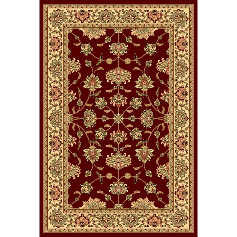 Rugs America New Vision Kashan Cherry Rectangular Indoor Woven Area Rug (Common: 5 x 8; Actual: 63-in W x 94-in L)