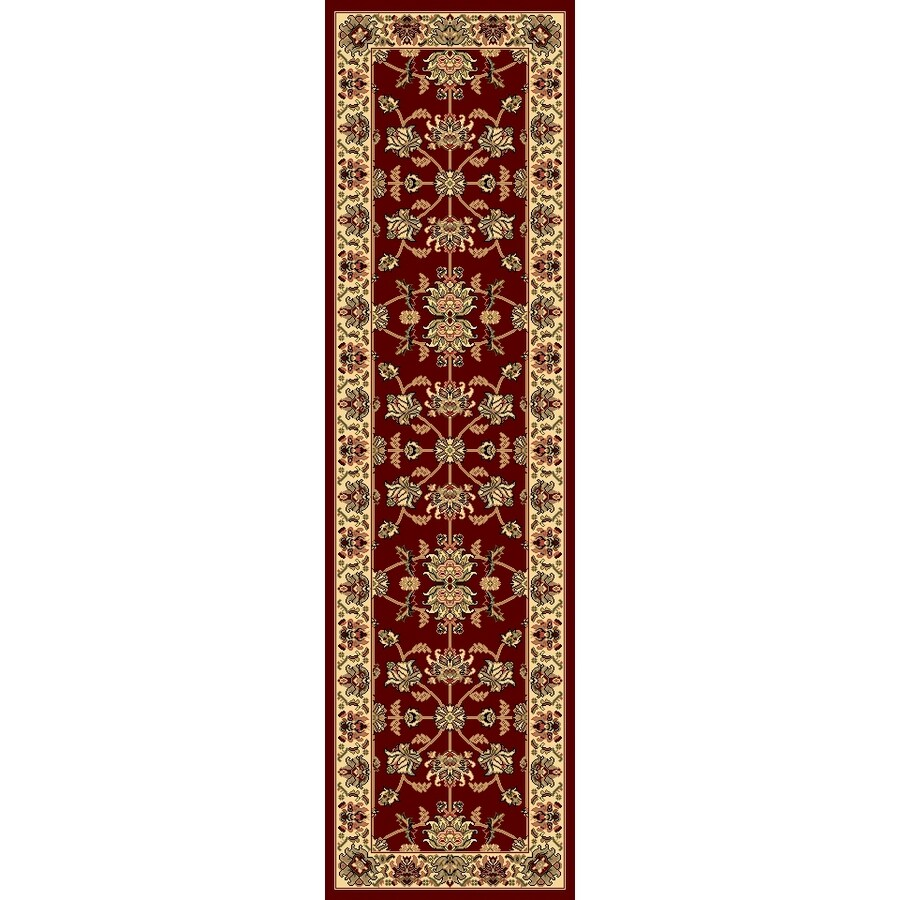 Rugs America New Vision Kashan Cherry Rectangular Indoor Woven Runner (Common: 2 x 8; Actual: 27-in W x 94-in L)