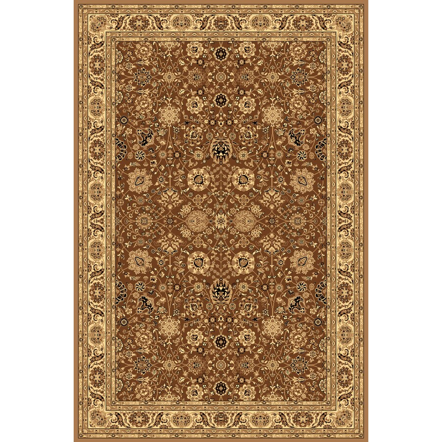 Rugs America New Vision Tabriz Brown Rectangular Indoor Woven Area Rug (Common: 4 x 6; Actual: 47-in W x 63-in L)