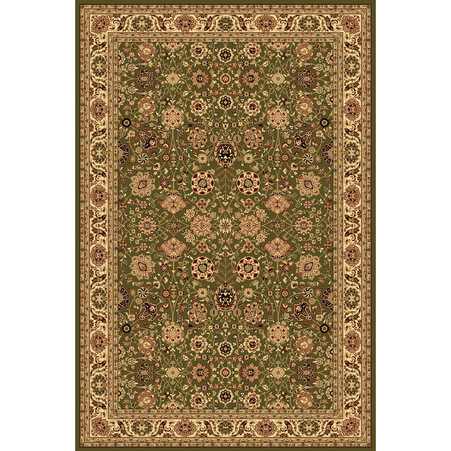 Rugs America New Vision Tabriz Olive Rectangular Indoor Woven Area Rug (Common: 4 x 6; Actual: 47-in W x 63-in L)