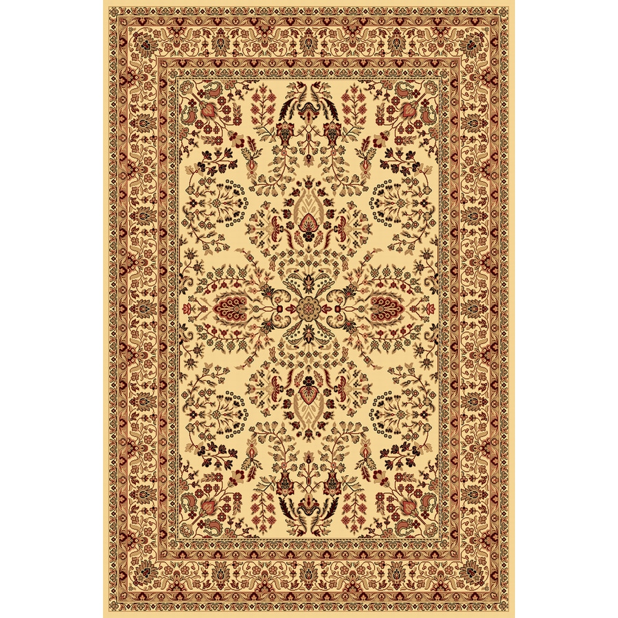 Shop Rugs America New Vision Lilihan Cream Rectangular